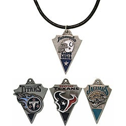 Carolina Glamour Collection Pewter Unisex AFC South Team Licensed NFL Pennant Necklace