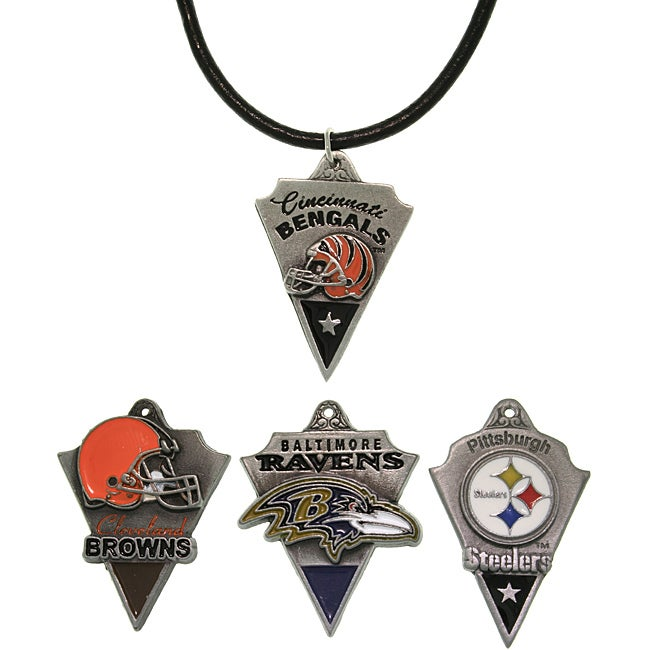 Carolina Glamour Collection Pewter Unisex AFC North Team Licensed NFL Pennant Necklace