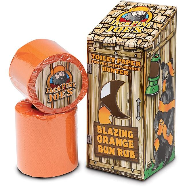 Jack Pine Joe's 'Blazing Orange Bun Rub' Blaze Orange Toilet Paper - 12 Rolls
