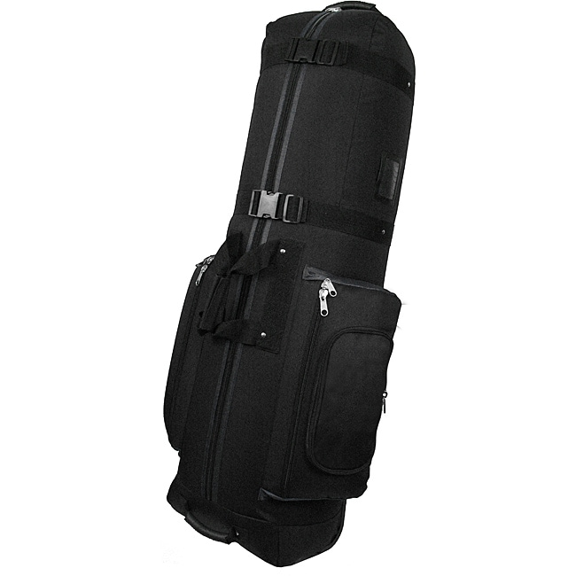 CaddyDaddy Constrictor II Black Durable Nylon Golf Travel Bag Cover - Thumbnail 0
