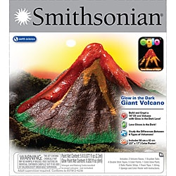 Smithsonian Giant Volcano Science Kit with Glow-in-the-Dark Lava - Thumbnail 0