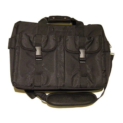 Imagine Eco-Friendly Black Laptop Briefcase