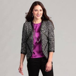 WDNY Women's Wrap Tweed Boucle Jacket FINAL SALE