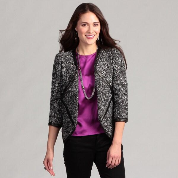 WDNY Women's Wrap Tweed Boucle Jacket FINAL SALE