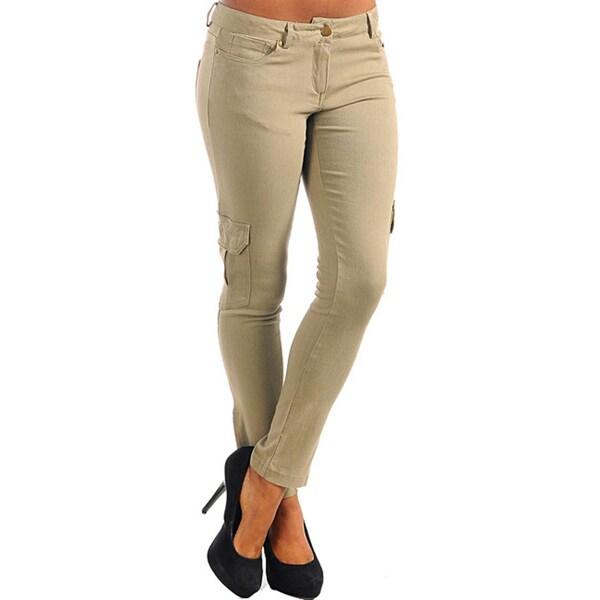 db5bf3206252a Shop Stanzino Women s Plus Size Olive Skinny Leg Cargo Pants - Free ...