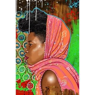 Maxwell Dickson 'Bassa Girl' Canvas Art Print