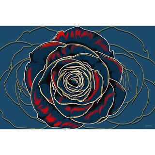 "Maxwell Dickson 'Rose"" Flower Canvas Art Print"