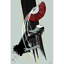 Maxwell Dickson 'Fan Dancer' Modern Wall Art