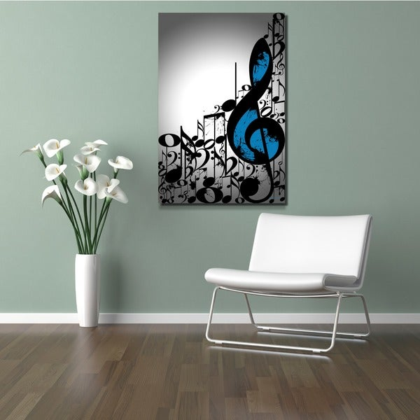 Maxwell Dickson 'Music Notes' Typography Wall Art