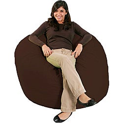 Jumbo FufSack Chocolate Brown Microfiber Bean Bag Chair