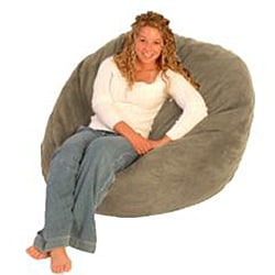 FufSack Tan Microfiber Bean Bag Chair - Thumbnail 1
