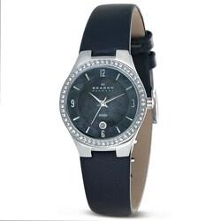 Skagen Women's Grey Leather Band Watch