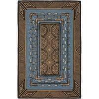 Safavieh Hand-hooked Deco Brown Wool Rug - 8'9 X 11'9