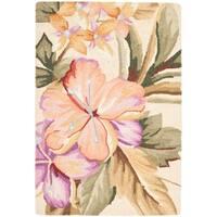"Safavieh Hand-hooked Botanical Ivory Wool Rug - 1'-8"" x 2'-6"""