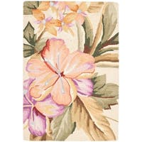 "Safavieh Hand-hooked Botanical Ivory Wool Rug - 2'-9"" x 4'-9"""