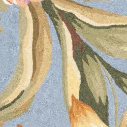 Safavieh Hand-hooked Botanical Blue Wool Rug (2'9 x 4'9)
