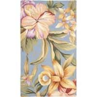 Safavieh Hand-hooked Botanical Blue Wool Rug - 2'9 x 4'9