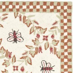 Safavieh Hand-hooked Bees Ivory/ Rust Wool Rug (2'9 x 4'9)