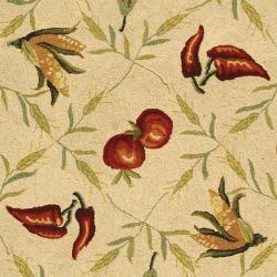 Safavieh Hand-hooked Roosters Ivory/ Black Wool Rug (8'9 x 11'9) - Thumbnail 2
