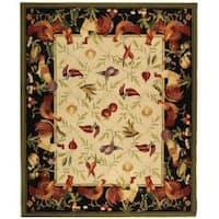 Safavieh Hand-hooked Roosters Ivory/ Black Wool Rug - 8'9 X 11'9