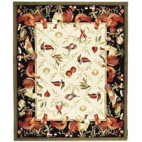"Safavieh Hand-hooked Roosters Ivory/ Black Wool Rug - 8'9"" x 11'9"""