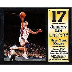 New York Knicks Jeremy Lin Stat Plaque