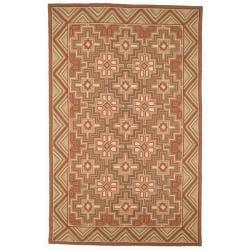 Safavieh Hand-hooked Maze Beige Wool Rug - 7'6 x 9'9 - Thumbnail 0