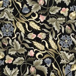 "Safavieh Hand-Hooked Garden Black Virgin-Wool Rug (5'3"" x 8'3"") - Thumbnail 2"