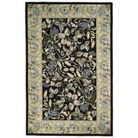 Safavieh Hand-Hooked Garden Black Virgin-Wool Rug - 5'3 x 8'3