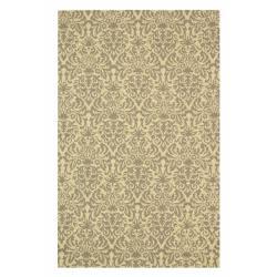 Safavieh Hand-hooked Paris Blue/ Beige Wool Rug (5'3 x 8'3)