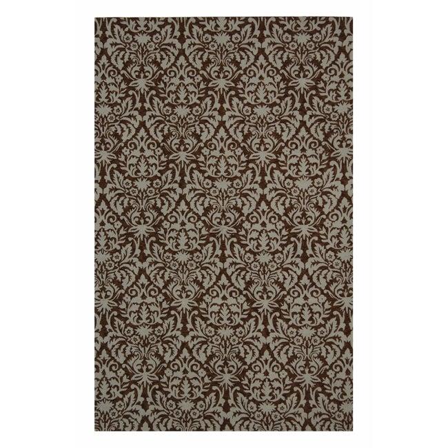 """Safavieh Hand-hooked Paris Brown/ Beige Wool Rug - 5'3"""" x 8'3"""""""