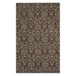 """Safavieh Hand-hooked Paris Brown/ Beige Wool Rug - 5'3"""" x 8'3"""" - Thumbnail 0"""