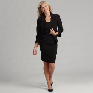 Jessica Howard Women's Black 2-piece Belted Dress FINAL SALE