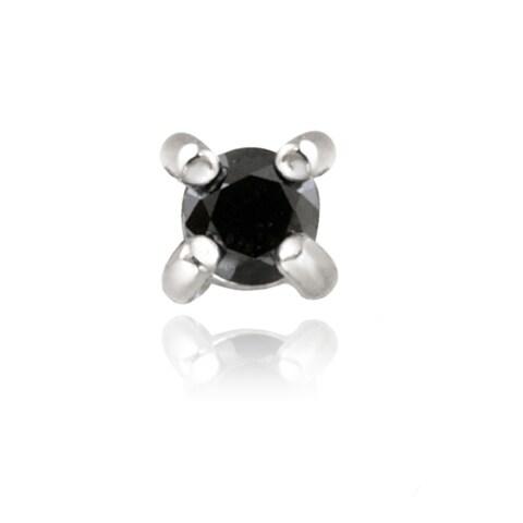 DB Designs Sterling Silver 1/8ct TDW Black Diamond Single Earring