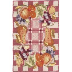 Safavieh Hand-hooked Fruits Rose Wool Rug (2'9 x 4'9)