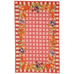 Safavieh Hand-hooked Fruits Rose Wool Rug (5'3 x 8'3)