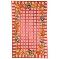 Safavieh Hand-hooked Fruits Rose Wool Rug - 5'3 x 8'3