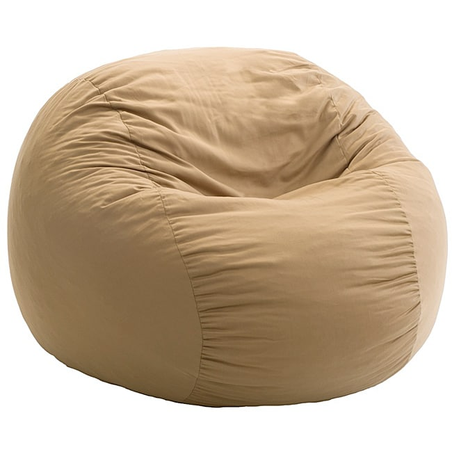 FufSack Tan Twill Bean Bag Chair - Free Shipping Today ...