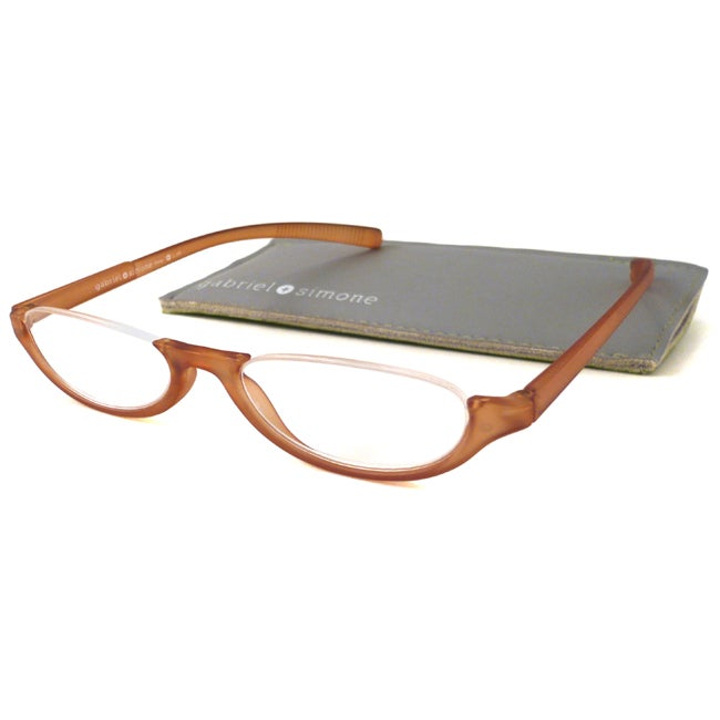 Gabriel+Simone Readers Women's 'Orsay' Brown Reading Glasses - Thumbnail 0