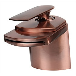 Dyconn 4.5-inch Antique Copper Waterfall Bathroom Faucet
