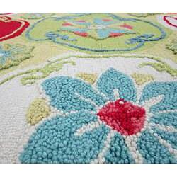 Peony Citron Floral Rug (3'6 x 5'6) - Thumbnail 1