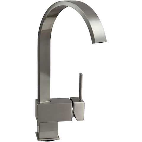 Dyconn 12.5-inch Contemporary Kitchen Brushed Nickel Faucet - Silver