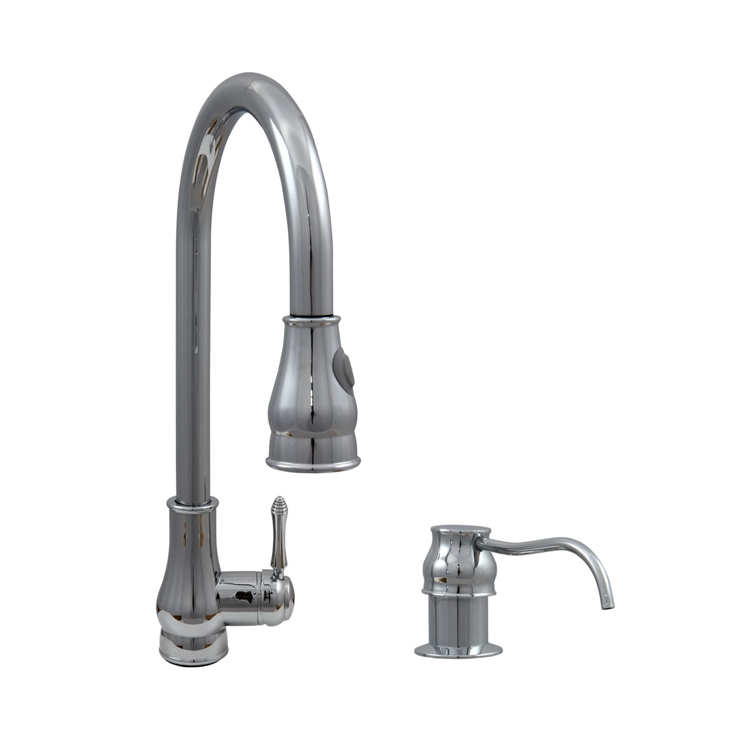 "Dyconn Faucet 18"" Modern Kitchen Polished Chrome Pull Out Faucet"