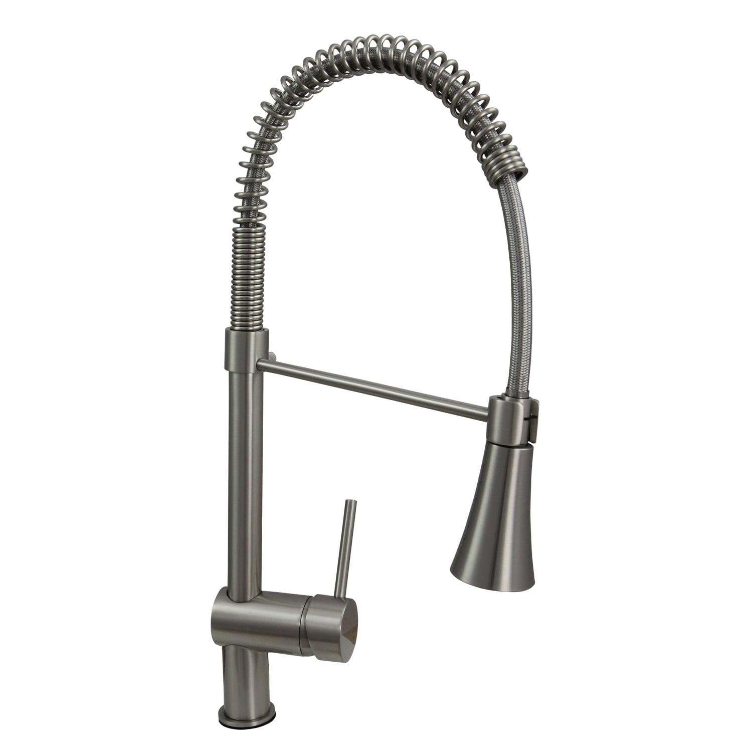 Dyconn 22-inch Contemporary Kitchen Brushed Nickel Swivel Faucet