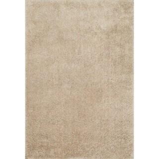 Carlisle Hand-tufted Sand Shag Rug (3'6 x 5'6)