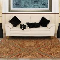 "Evan Blue/ Rust Transitional Wool Rug (3'6 x 5'6) - 3'6"" x 5'6"""