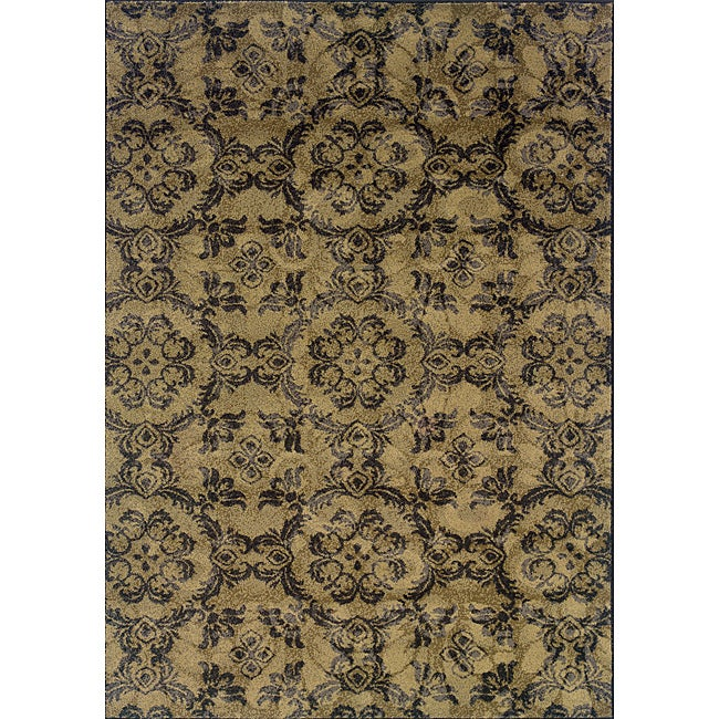 Gray/Black Transitional Area Rug - 3'10 x 5'5