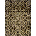 Gray/Black Transitional Area Rug (3'10 x 5'5)