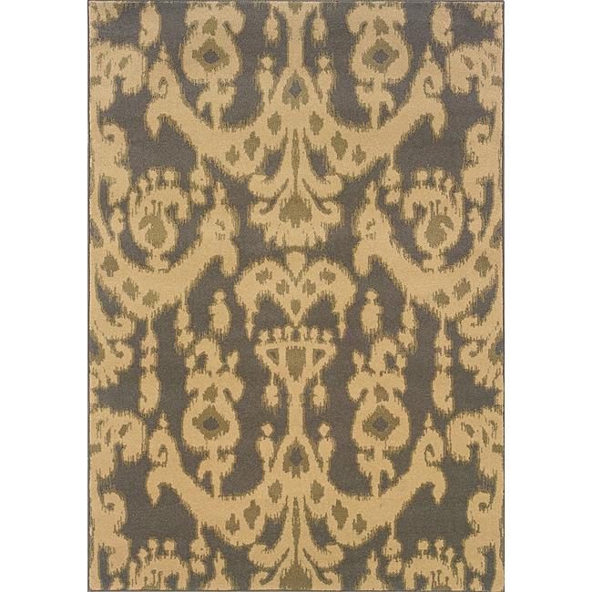 Beige/ Grey Transitional Area Rug (3'10 x 5'5)