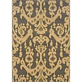 Beige/ Grey Transitional Area Rug - 3'10 x 5'5